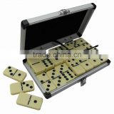 Deluxe 28 Pcs Urea Domino Set in Aluminum case for traveling