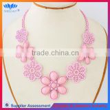 Fashion Jewelry Chunky New Design Acrylic Hawaii Flower Necklace Lei
