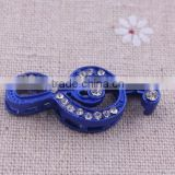 Blue music symbol crystal rhinestone connector charms ! alloy silver Connector decoration bracelet wholesales!!