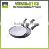 Aluminium ceramic/non stick pans castamel cookware fry pan cookware pan set with bakelite lid