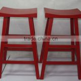 Chinese antique wooden red bar stool
