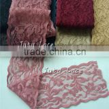 "New fancy 2"" width decorative stretch lace elastic trim cheap price wholesale for headband hair accessory"