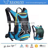 Light weight outdoor portable water resistant blue color bike backpak hydration bag bicycle water backpack