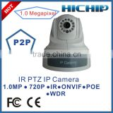 Hichip Dome Camera Style 1 Megapixel 720P POE IP Camera PTZ with Low cost, 15m night vision