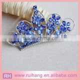 light blue crystal crown brooch of wedding invitations                                                                         Quality Choice