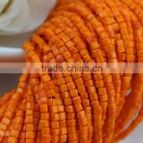 wholesale glass beads for hand craft,wholesale european glass bead,orange porcelain cube crystal beads