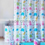 Color box packed shower curtain and bath mat set, childlike lovely animals design bathroom accessories set