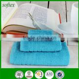 wholesale blue towels bath set luxury hotel 100% cotton