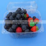 High Quality Clamshell Blister Plastic packaging container for berry 1500gram