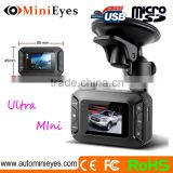 Ultra Mini Car camera front DVR with NTK96550+AR0330 solution 1080P front rear camera car dvr gps
