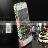 Crystal Rhinestone Diamond Bling Metal Case Cover Bumper for iPhone 5 5S