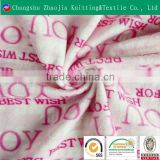 100 polyester knitted home textile coral fleece fabric