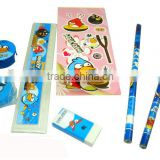 School Pencil+Eraser+Notebook+Ruler+Case+Pen Kid Stationery Set for promotional                                                                         Quality Choice
