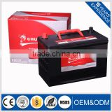 strong starting japanese standard car and truck battery for sale.