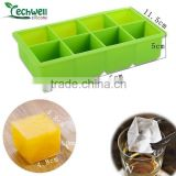 bar accessories 8pcs big size chocktail wine and whiskey square ice cube tray