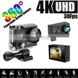 SJ9000 H8R Ultra 4K HD WIFI Action Cameras Dual Screen Waterproof Sport Camera+ Remote Control DV DVR