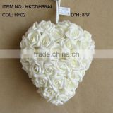 "2014 Hot Sale Artificial PE Flower 8"" Artificial PE Wedding Rose Hanging Heart"