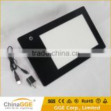 Factory Direcct A5 USB Port Computer Connect LED Light Table Board with Battery Powered Rechargeable LED Tracing Copyboard