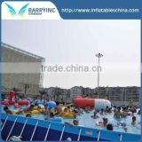 China rectangular above ground swimming pool,swimming frame with inflatable donut swim ring