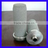 Sintered metal powder filter elements for steam filtration
