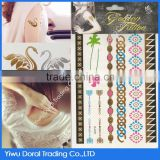 Hot sale oversea custom water transfer multiple color temporary metallic tattoos with cheap price for promotion                                                                         Quality Choice