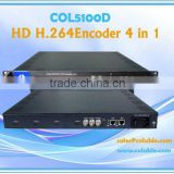 COL5100D 4 Channel HDMI to IP H.264 HD MPEG-4 Video Encoder(4 in 1) IPTV with Multiplexing Function