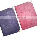 Celtic theme handmade leather journals in size 6*8 inches with blank cotton rag handmade papers
