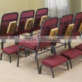 shanghai commercial furniture wholesale metal padded stackable church chair