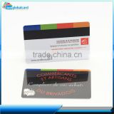 CR80 standard glossy finished Hi-Co/Lo-Co plasticMagnetic stripe card encoding on tracks 1,2 or 3 for magnetic card reader locks