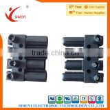 SY-086 black with strip 4P high foot terminal block