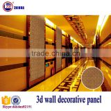 Eco-friendly 3d effect wood decorative wall panel for interior wall and ceiling decoration fireproof cheap facade wall panel