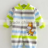 autumn and winter custom printed micro polar fleece infant romper footed pajamas for baby