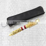 Genuine Leather Pen Case Pencil Pouch Leather with High Quality Key Ring