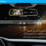 ek-043labd 4.3auto dimming inch Ultral-high brightness monitor;Synch phone book;LCD rearview mirror bluetooth handsfree car kit