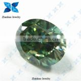 Green Oval cut Loose Moissanite Diamond for Jewelry