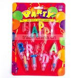 Hot sale birthday party decorations multi-colored paraffin wax stick candle