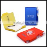 Logo and advertise printing promotional memo note pads with ball pen as gift