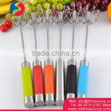Promotional Semiautomatic Stainless Steel Hand Held Automatic Portable Rotating Manual Egg Beater