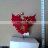 poinsettia artificial flower/Decorated Christmas flower /Christmas glittering decorations