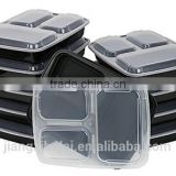 Microwaveable BPA free FDA approval meal prep containers 3 compartment 34oz
