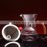 stainless steel coffee dripper perfect for pour over coffee maker reusable filters serves 1-2 cups