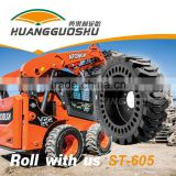 Smooth Solid tire Chinese factory supplier industrial tire Skid-Steer Loader tire 21x7x15 with good price