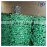 high quality low price PVC Coated Barbed Wire For Security and Fencing plastic barbed wire china factory