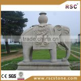 Stateliness white marble elephant statue