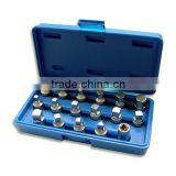 "17 Piece 3/8"" Square Dr. Drain Plug Socket Set"