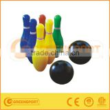6 pieces Inflatable plastic bowling set for kids with skittles