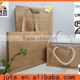 Christmas fashion tote bag jute fabric recycling shopping bag