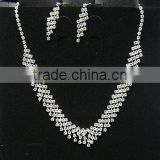 silver jewelry sets,fashion necklace sets for woman, rinestone weddding jewelry