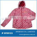 lady's printed solfshell jacket