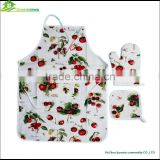 Kitchen apron oven mitt set apron set christmas towel&kitchen set&pot holder 3pcs/set